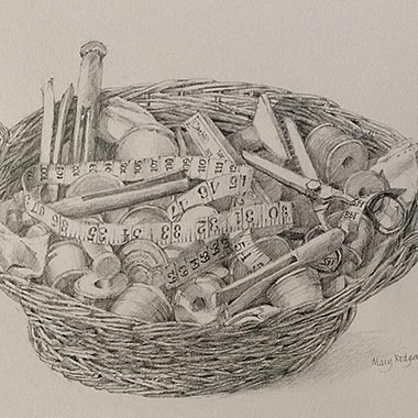 Basket of Pegs and Bobbins